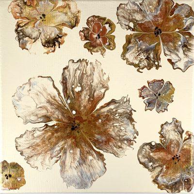 Autumn Petals - Acrylic Pour