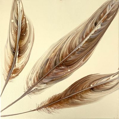 Feathers - Acrylic Painting