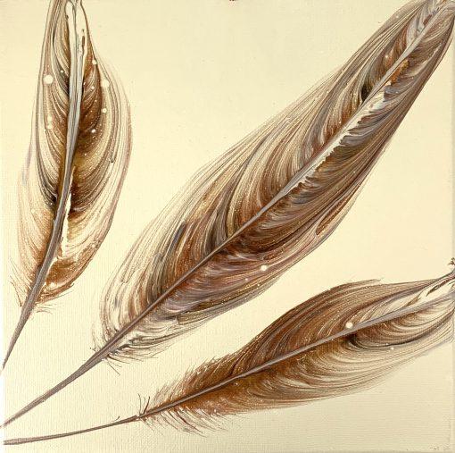 Feathers - Acrylic Painting